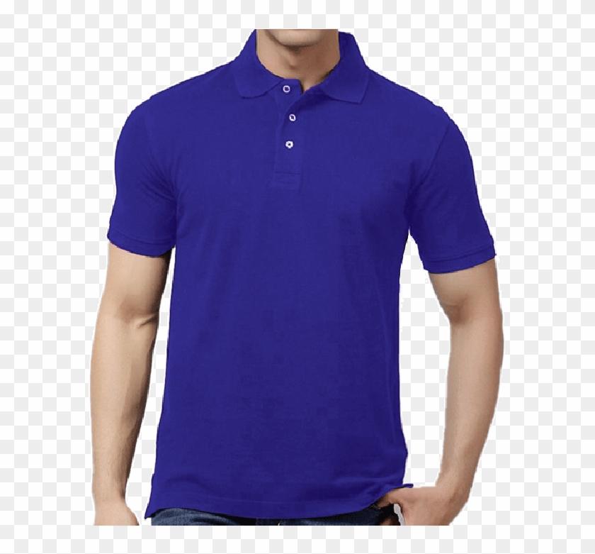 2017 Blank Pure Color Mesh Dry Fit Quick Dry Polo T- - Camiseta Azul De Cuello Clipart #1854690