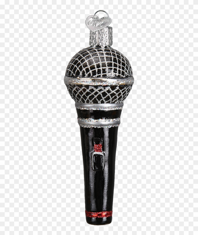 Microphone Old World Glass Ornament - Bottle Stopper & Saver Clipart #1856616