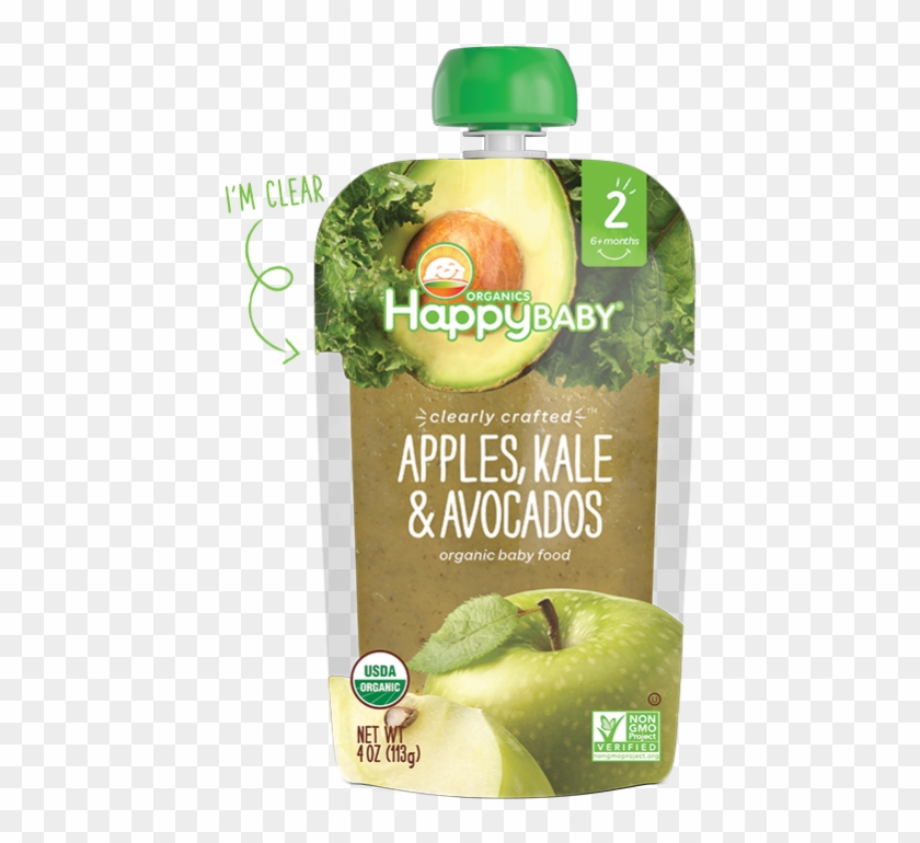Happy Baby Stage 2 Broccoli, Peas & Pear - Avocado Baby Food Product Clipart #1861696