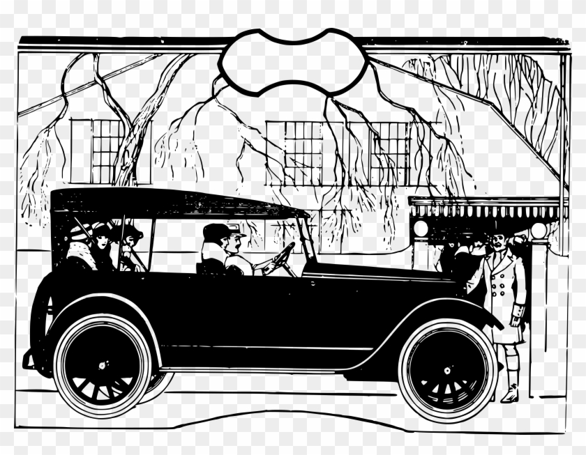 This Free Icons Png Design Of People Drive An Old Car Voiture Dessin Avec Personne Clipart 1861831 Pikpng