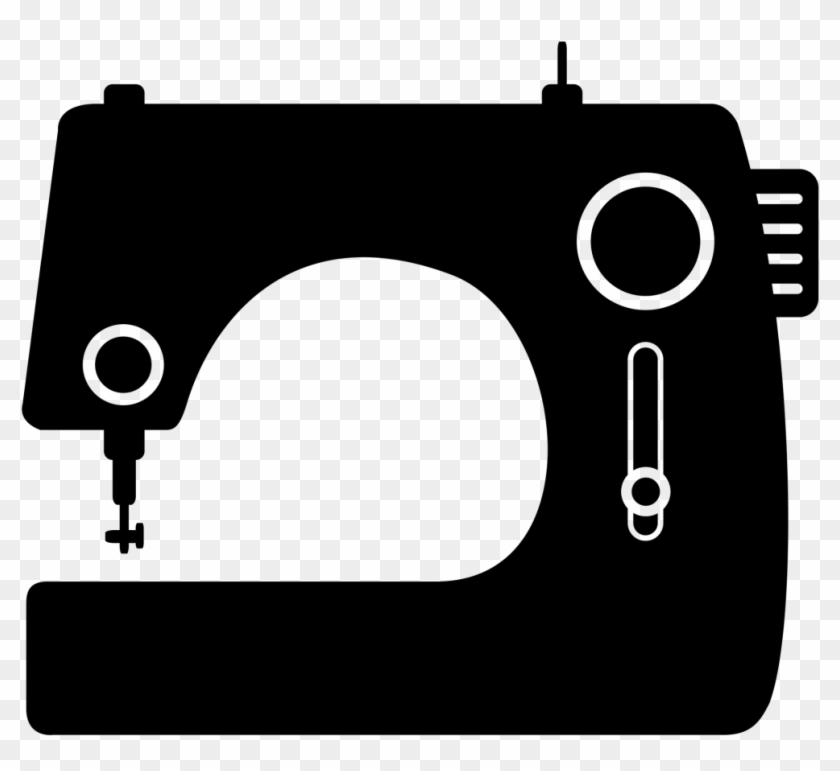 Sewing Machine Clipart Sewing Class - Black And White Sewing Clipart Png Transparent Png #1865636