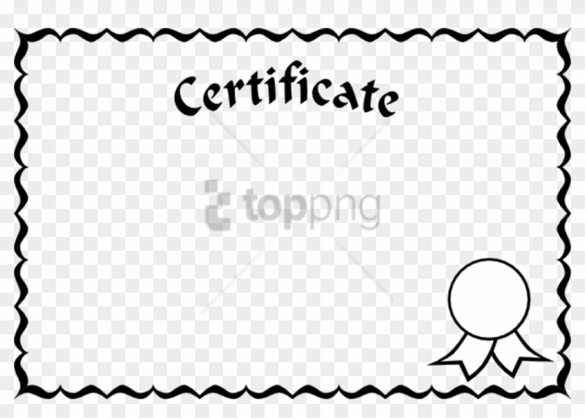 Free Png Single Line Border Designs Png Png Image With - Certificate Borders And Frames Clipart #1867180