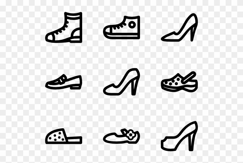 Shoes Linear - Running Shoe Clipart #1867609