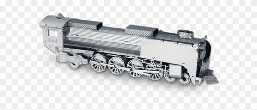 Metal Earth Steam Locomotive 3d Laser Cut Metal Car - Metal Earth 3d Steam Locomotive Clipart #1868359