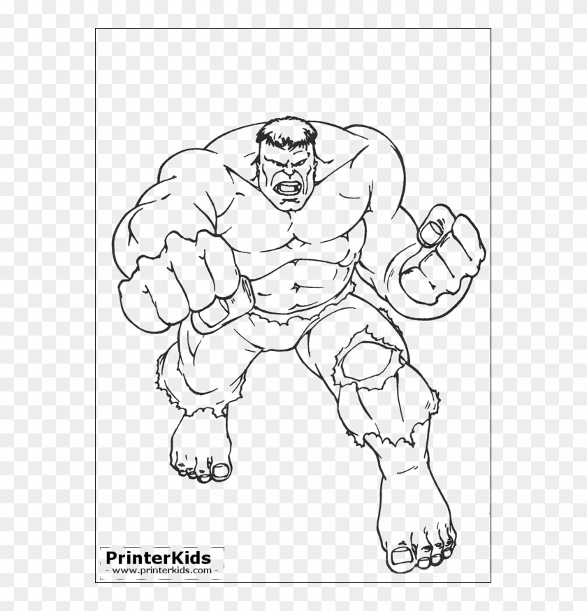 Avengers Hulk Coloring Pages Printable Clipart 1868924 Pikpng