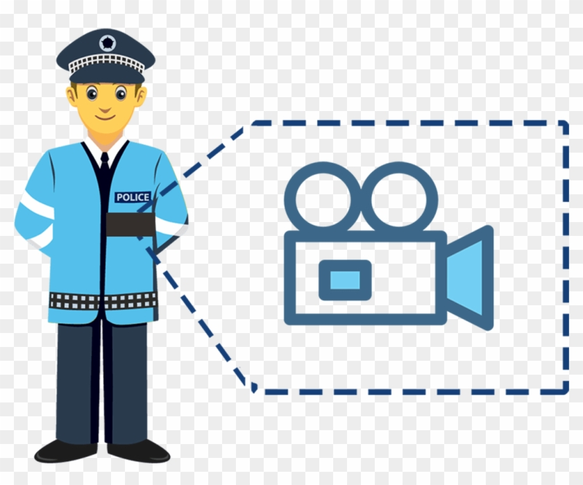 Automatically Recognize Activities Such As Foot Pursuits, - Traffic Police Png Clipart #1874577