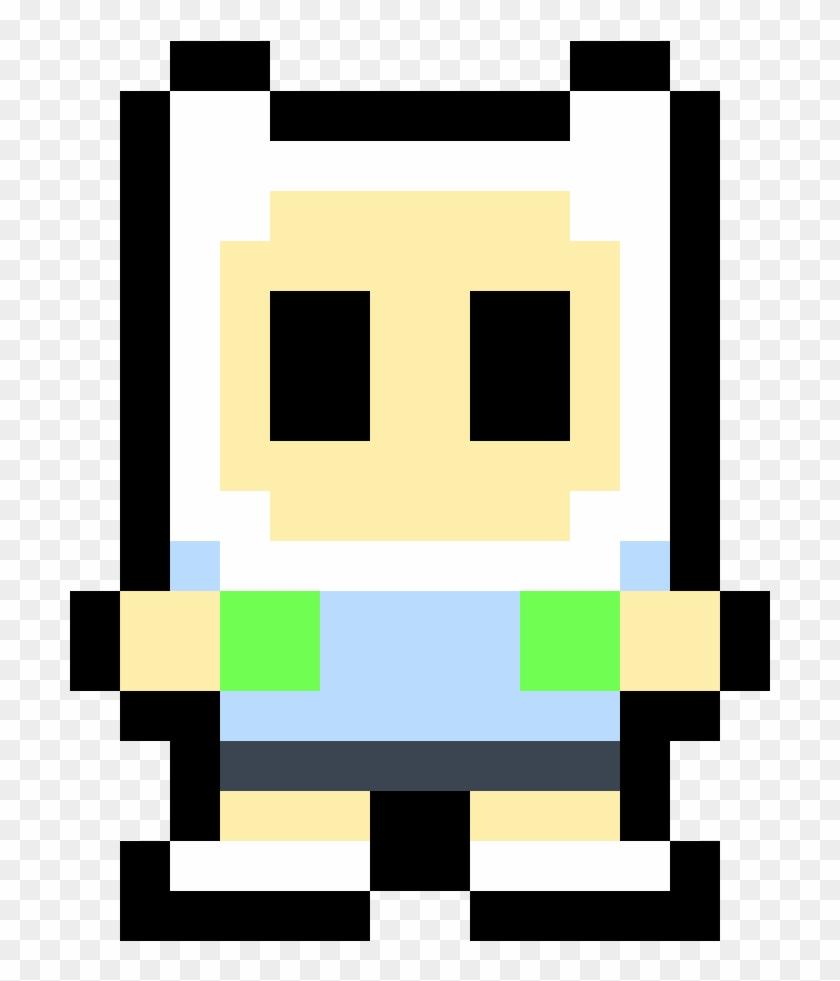 Cute Finn Pixel Art Minecraft Finn Clipart 1876667 Pikpng