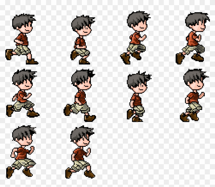 Sprite Sheet For A Custom Generated Avatar As Used - Child Sprite Sheet Clipart #1877811