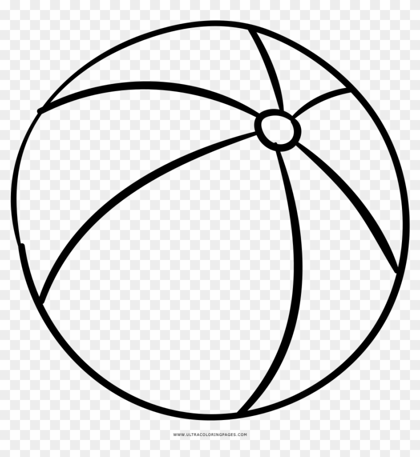 Beach Ball Coloring Page Clipart (#1879005) - PikPng