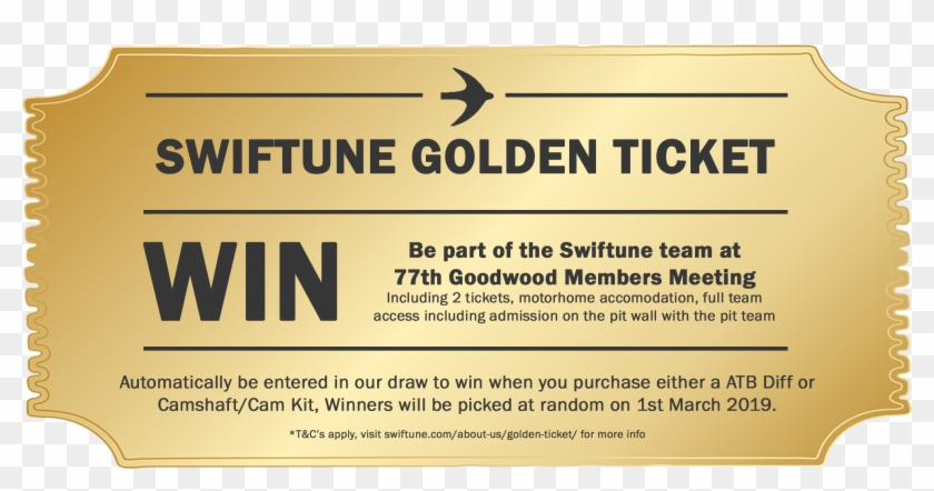 Introducing The Swiftune Golden Ticket, An Opportunity Clipart #1889949