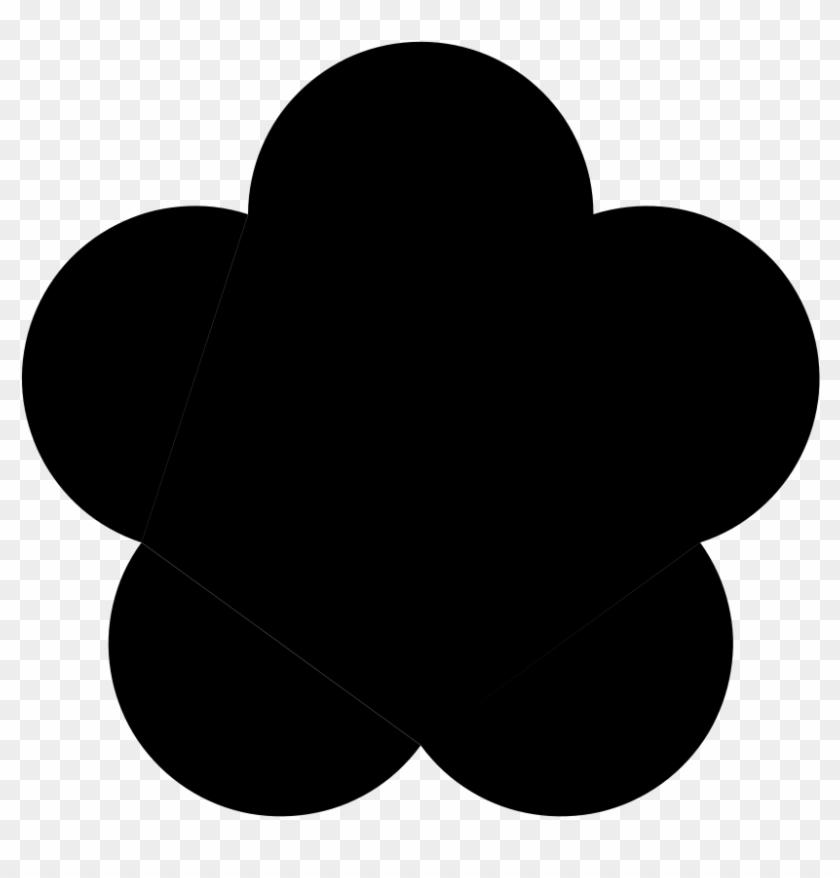 600 X 583 60 - 5 Petal Flower Silhouette Clipart #190510