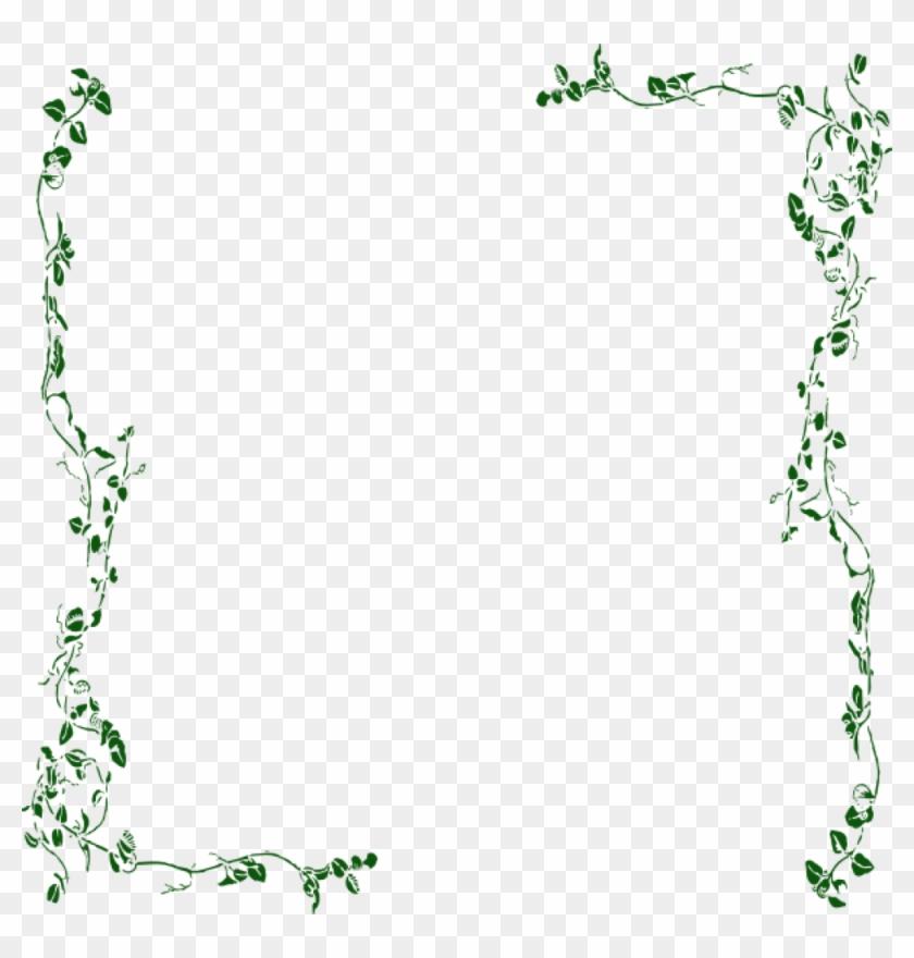 Vine Border Clipart Ivy Vine Clip Art Vine Border Green - Vine Border Png Transparent Png #191486