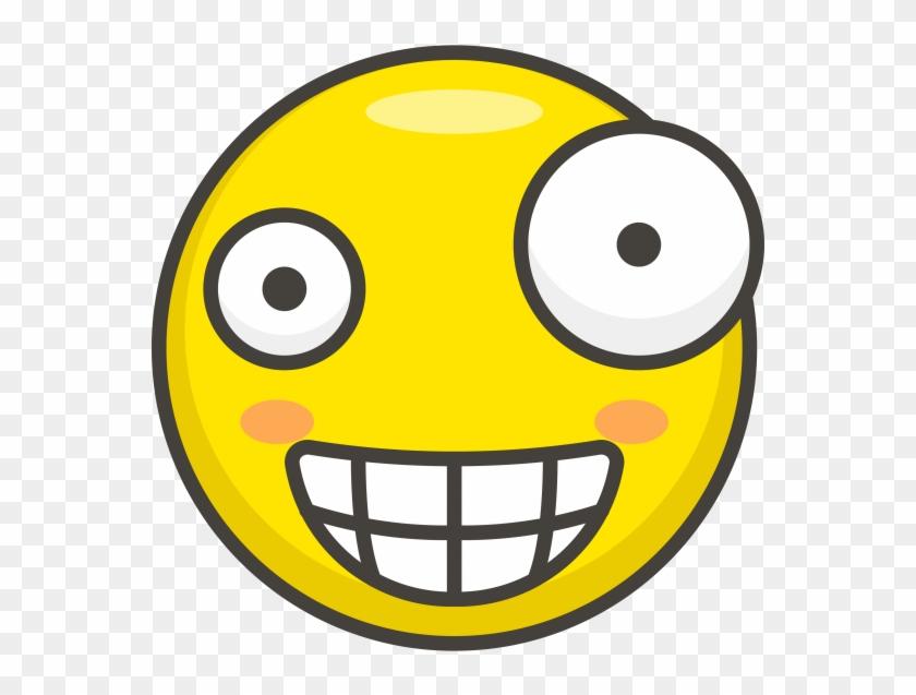Crazy Face Emoji - Amazed Icon Clipart #192069
