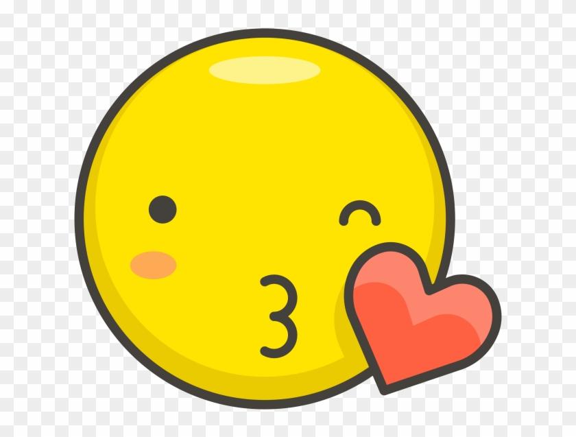 Face Blowing A Kiss Emoji - Kiss Icon Clipart #192472