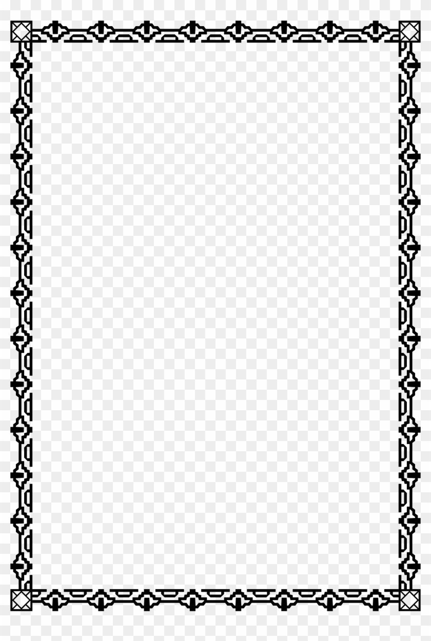 Clipart Border 81 A4 Size Clip Art Borders And Corners - Calligraphy Clipart Frame Border, HD Png Download #193467