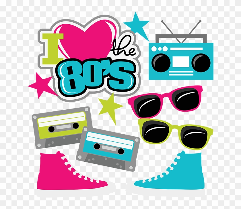 I Heart The 80's Svg Cut Files For Scrapbooking 80's - Love The 80s Clipart - Png Download #199739