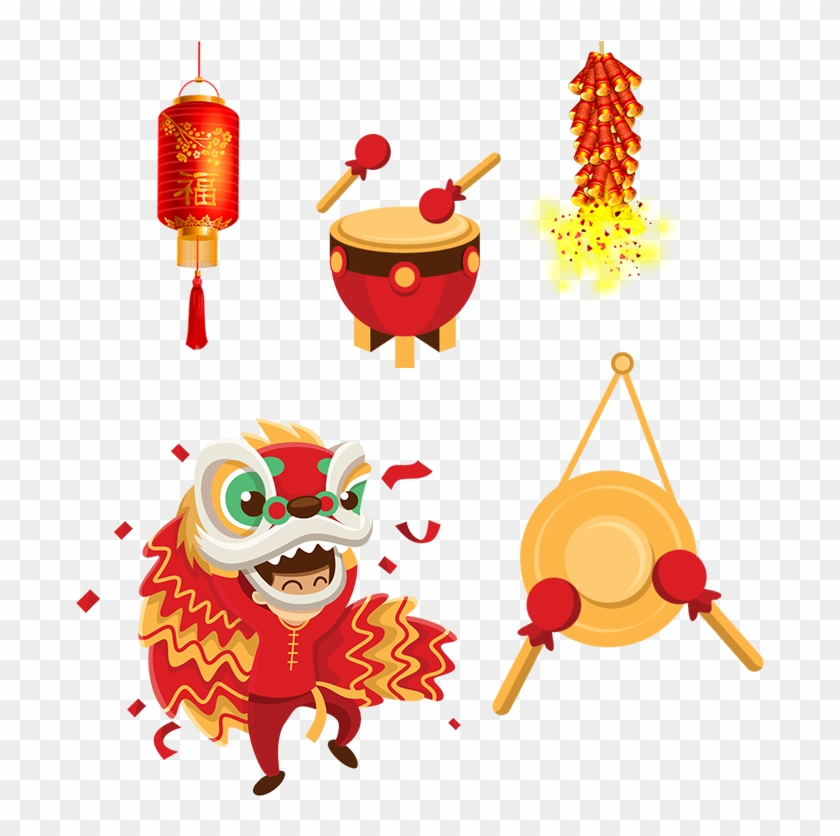 Chinese New Year Clipart Hat - Chinese New Year Png Transparent Png #1902135