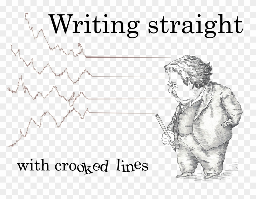 Writing Straight With Crooked Lines Clipart #1904010