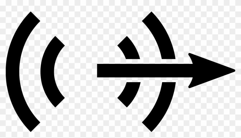 Radio Tower Icon - Audio Symbol On Computer Clipart #1924131