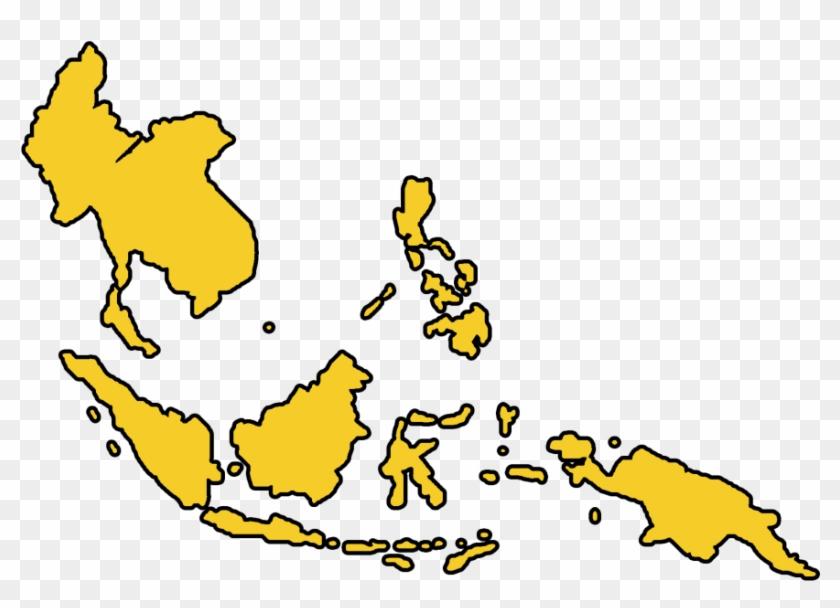 Asia Cartoon Png - Southeast Asia Map Png, Transparent Png