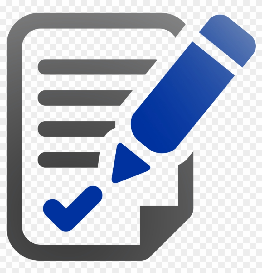 Document Check Icon Blue Pen Png Blue Document Icon Evaluate Icon Vector Clipart 1934290 Pikpng