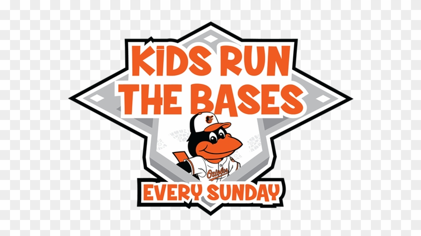 Celebrate Sundays In Birdland With Your Family - Orioles Kids Run The Bases Clipart #1937168