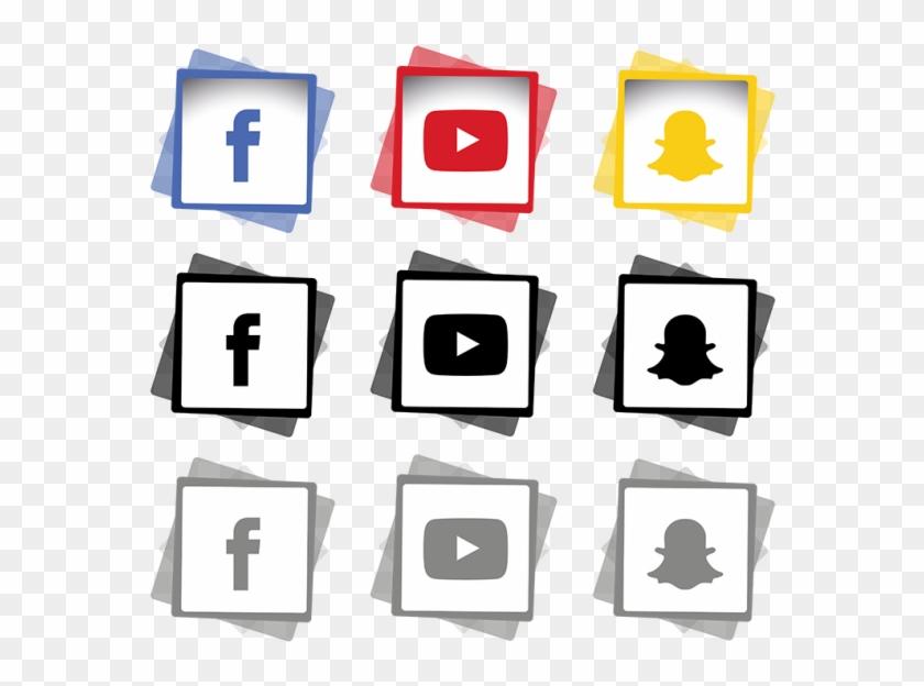 Hexagon Clipart Linked - Transparent Social Media Png #1944583