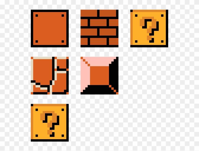 Mario Blocks Pixel Art Mario Blocks Hd Png Download