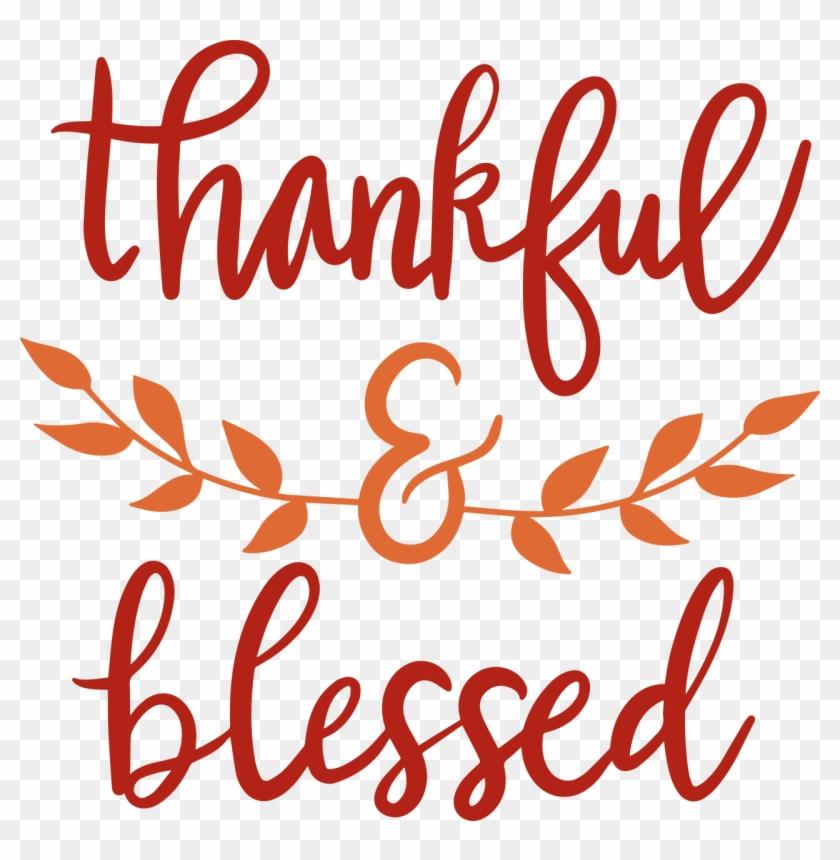 Thankful & Blessed - Logo De Jouet En Bois Clipart #1947756