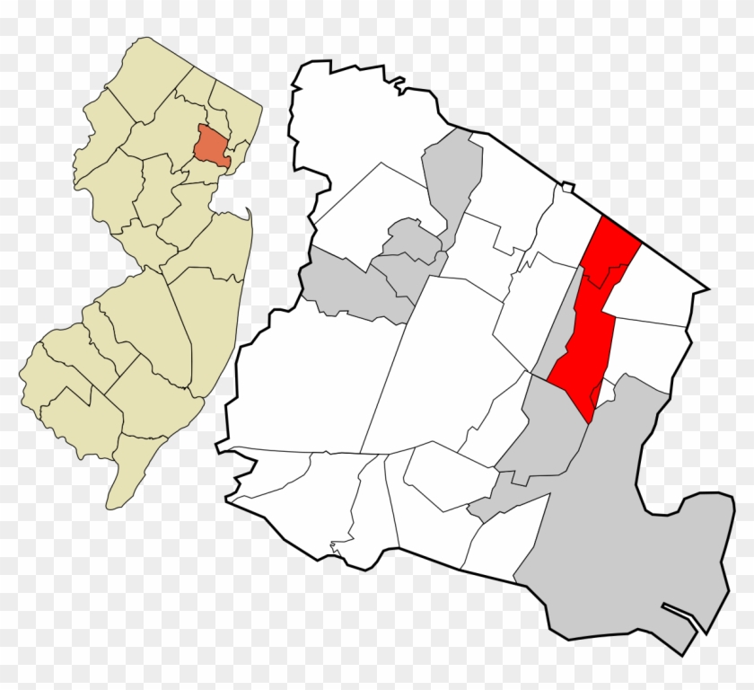 Bloomfield New Jersey Wikipedia - Montclair Nj On A Map Clipart #1949159