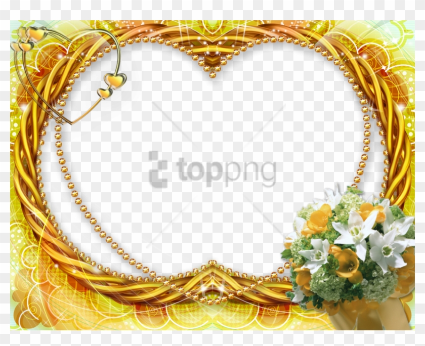 Free Png Gold Wedding Frames Png Png Image With Transparent - Download Frames Clipart #1952329