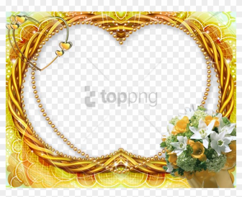 Free Png Gold Wedding Frames Png Png Image With Transparent - Download Frames, Png Download #1952329