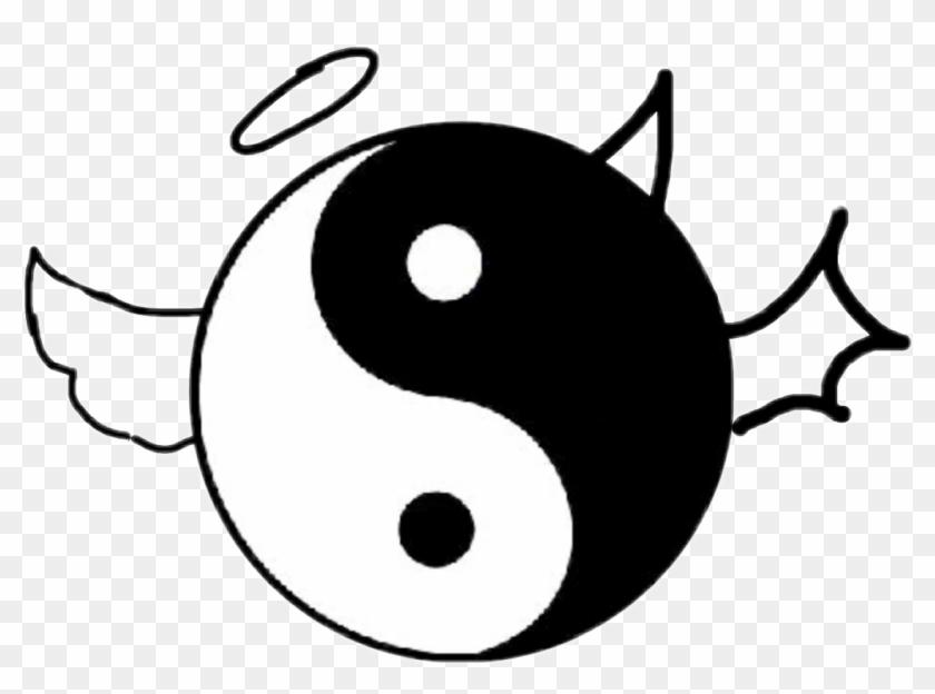 Yinyang Yin Yang Aesthetic White Black Ying Yang Clipart 1952864 Pikpng