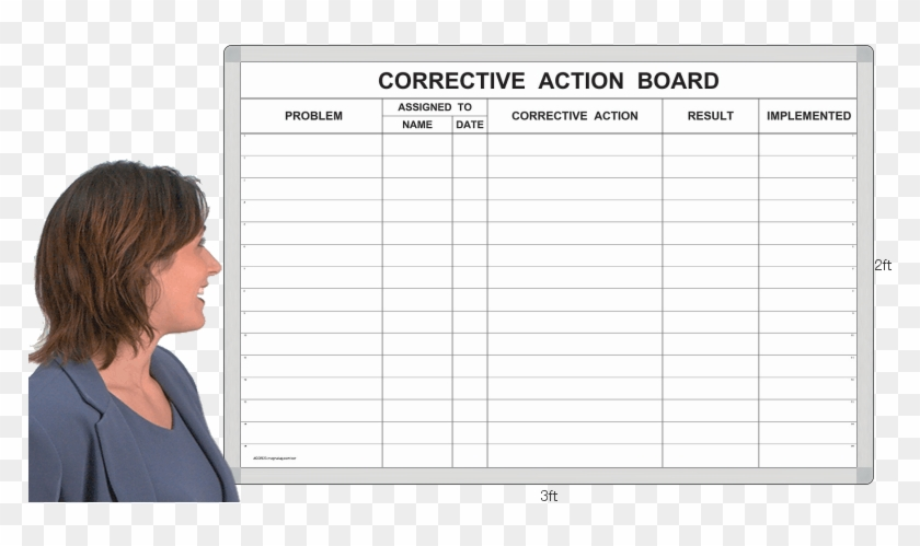 Cor23t - Dry Erase Hourly Schedule Board Clipart@pikpng.com