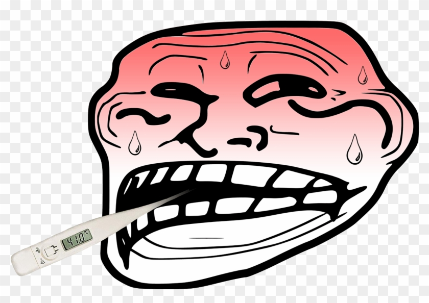 Face Facial Expression Nose Head Jaw Headgear Smile - Troll Face Icon Clipart #1955676