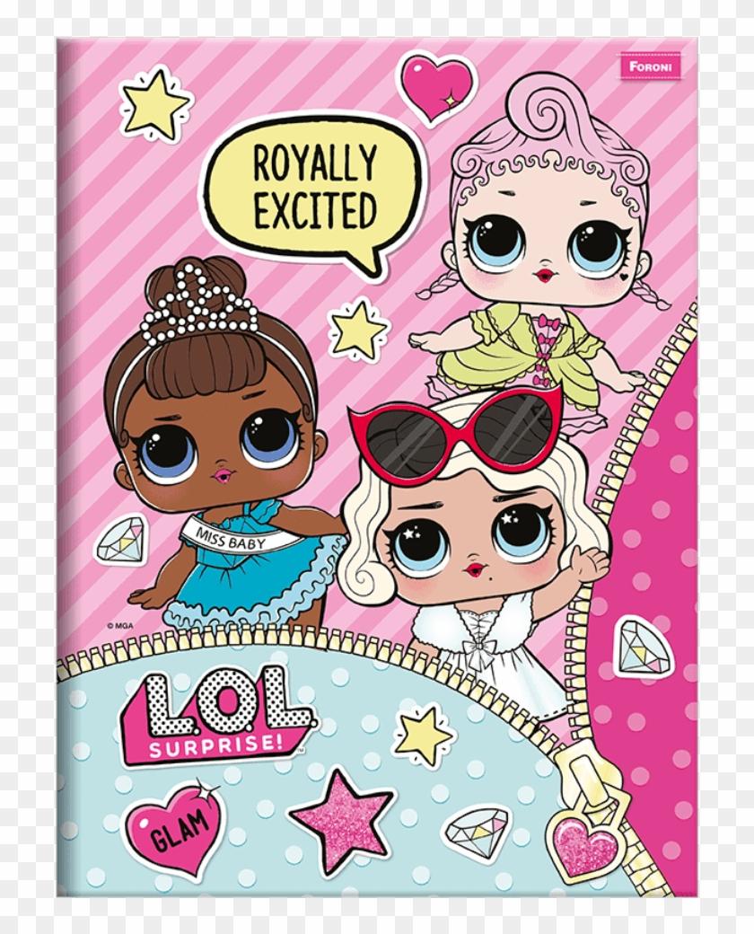 Caderno Brochura Lol Surprise 96 Fls - Caderno Brochura Lol Clipart #1961002