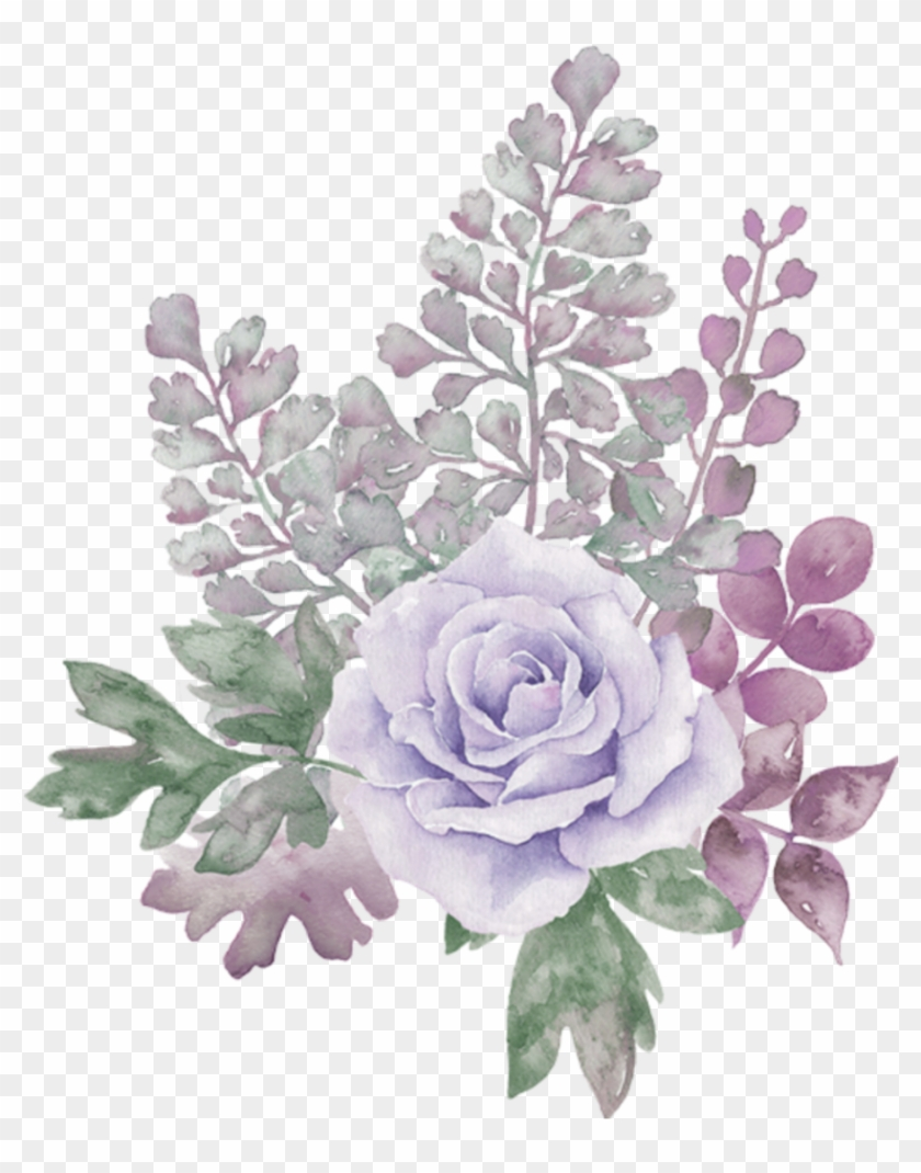 Pastel Floral Watercolor Background Png Download Clipart