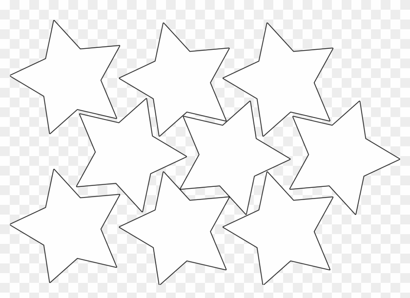 Magical Clipart Hollywood Star - Cut Out Mini Stars - Png Download #1969552