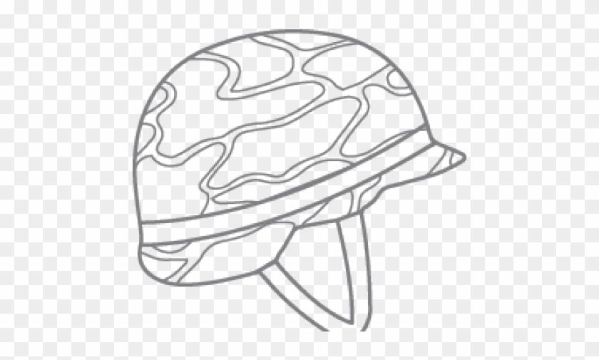 Drawn Helmet Military Helmet - Sketch Clipart #1973288