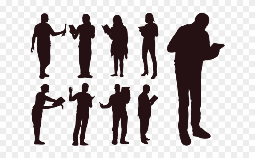 People Silhouette Clipart Social Person - Silhouette Reading - Png Download #1976970