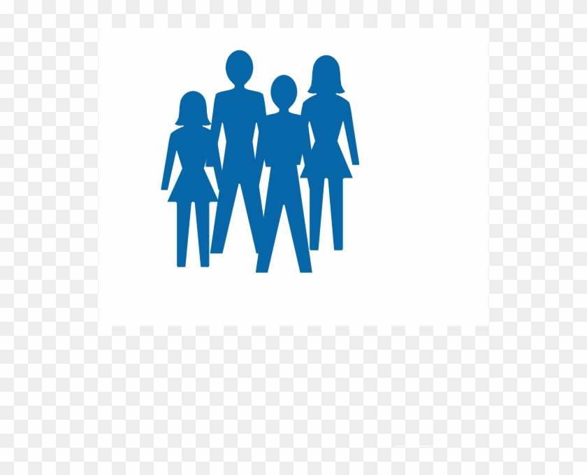 How To Set Use Silhouette Two Women And Men Svg Vector - Stick Figure Group Of People Clipart #1977123