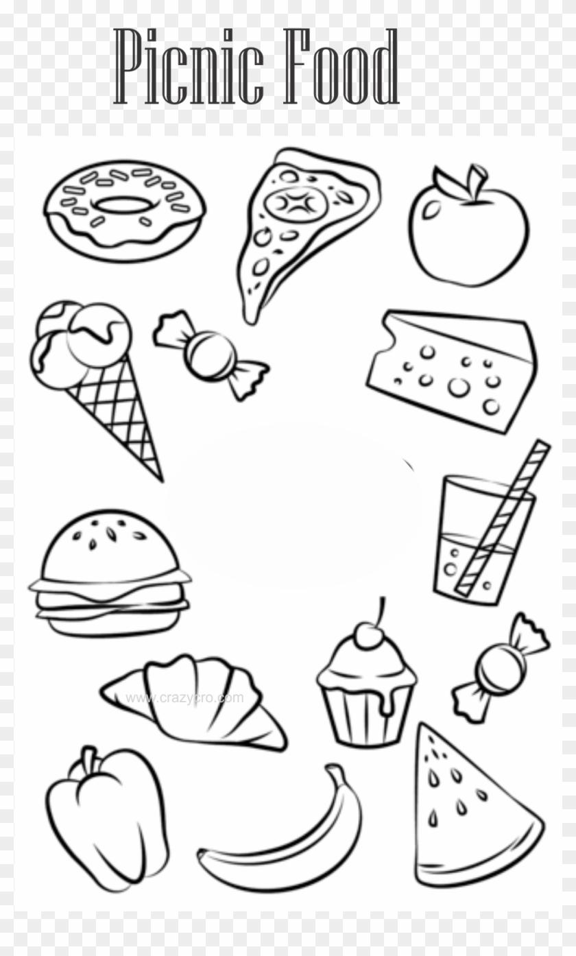 Picnic Food Coloring Pages Printable Colouring Pages Food Clipart 1981001 Pikpng