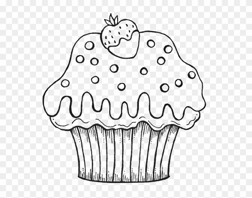 Cupcake Coloring Page For Kids Cupcake Coloring Pages Clipart 1981404 Pikpng