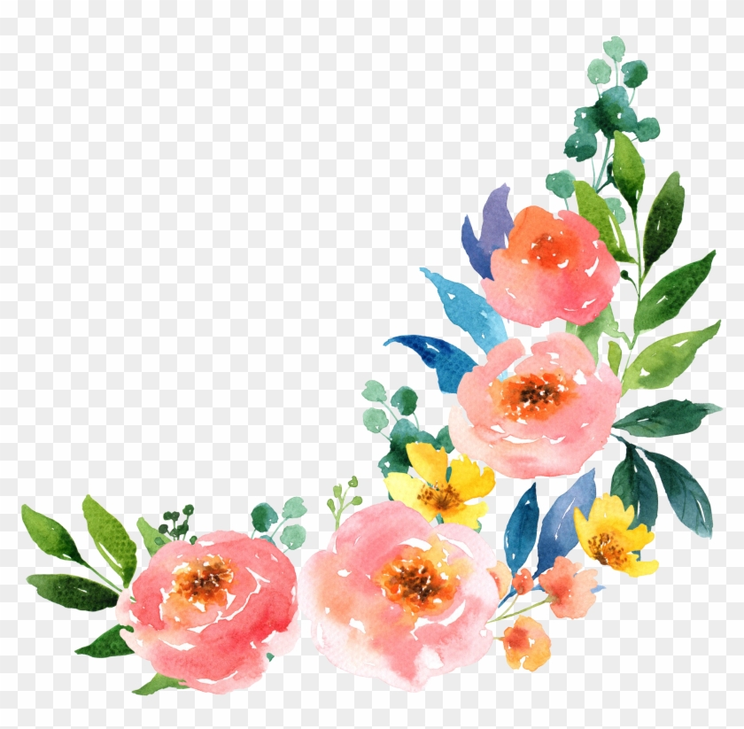 Paper Watercolour Flowers Watercolor Painting , Png - Watercolor Flower Painting Png Clipart #1982972