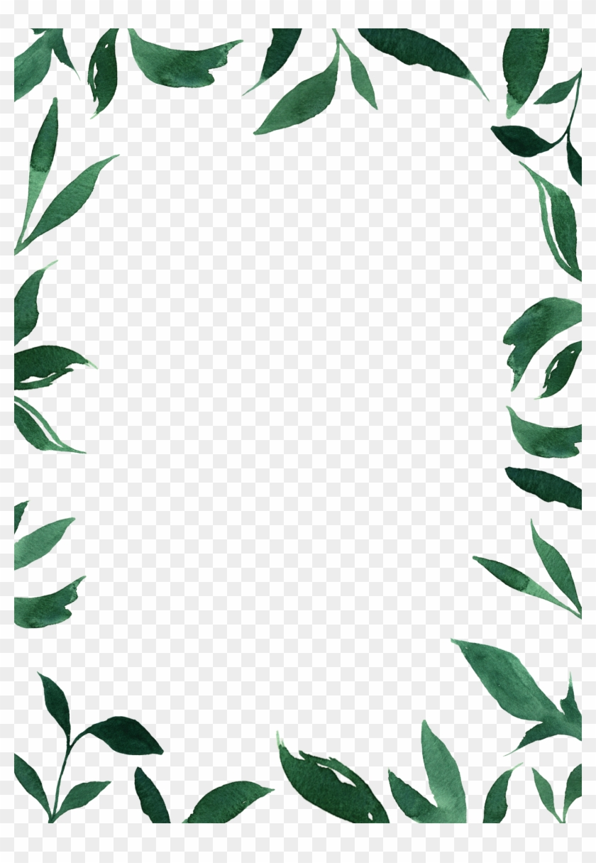 Borders Picture Transparent Ⓒ - Green Border Design For Wedding Invitation, HD Png Download #1986080