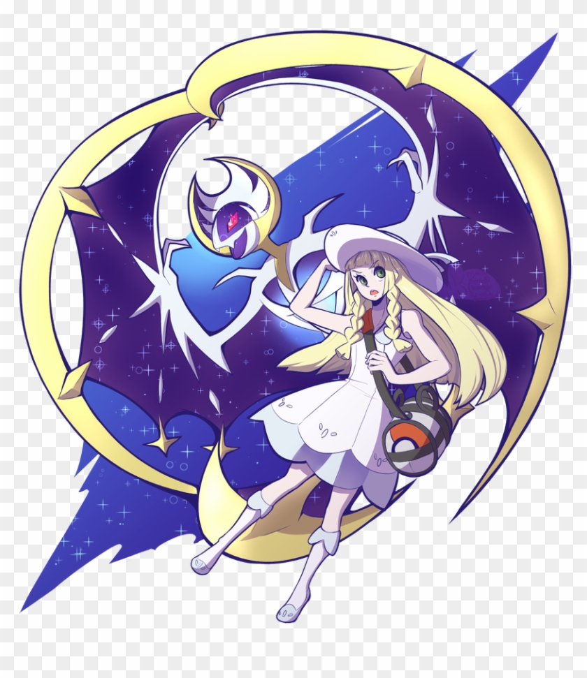 656 Kb Png Pokemon Moon Lillie And Lunala Clipart