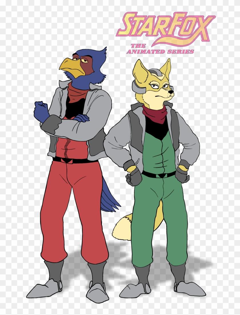 Fox Mccloud And Falco Lombardi From Star Fox Fox Mccloud A