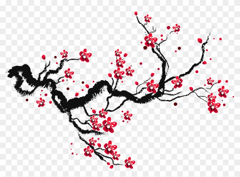 Cherry Blossom Paper Sketch - Drawing Cherry Blossom Branch Clipart #1988062