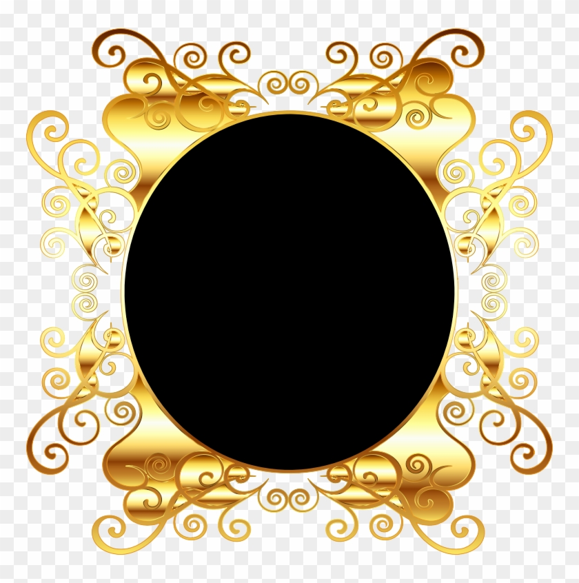 Oval Gold Frame Png Png Medium - Transparent Background Oval Frame Gold Png Clipart #1988699