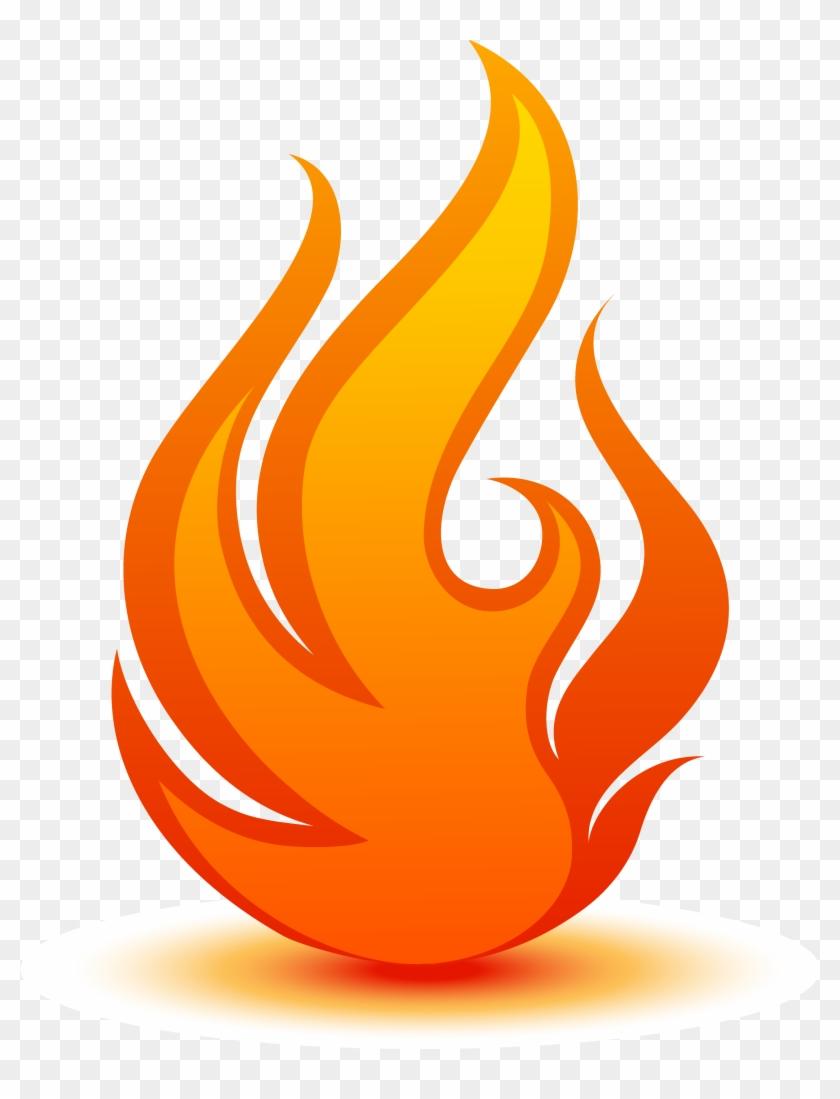 Flame Logo Fire - Fire Flame Logo Clipart #1993054